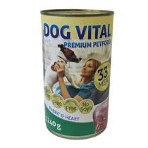 Dog Vital konzerv rabbit&heart 1240gr