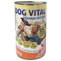 Dog Vital konzerv Turkey, Chicken & Rice1240gr