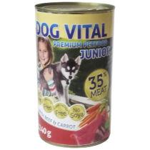 Dog Vital Junior konzerv Beef&carrot 1240gr