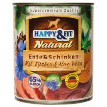 Happy&Fit Natural Ente&Schinken mit Kürbis&Aloe Vera 800g