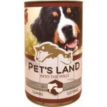 Pet s Land Dog Konzerv Marhamáj-Bárányhús almával 1240g
