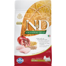 N&D Dog Ancestral Grain csirke, tönköly, zab&gránátalma adult mini 800g