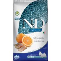 N&D Dog Ocean Adult mini hering&narancs 2,5kg
