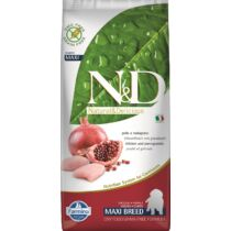 N&D Dog Grain Free csirke&gránátalma puppy maxi 12kg