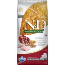 N&D Dog Ancestral Grain csirke,tönköly,zab&gránátalma Puppy Medium&maxi 12kg