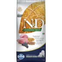 N&D Dog Ancestral Grain bárány, tönköly, zab&áfonya puppy medium&maxi 12kg