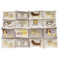 Fekhely több lapból álló macskás (patchwork) 100x70cm homok/bézs