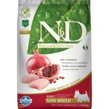 N&D Dog Grain Free csirke&gránátalma adult mini 7kg