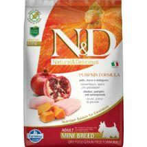 N&D Dog Grain Free csirke&gránátalma sütőtökkel adult mini 7kg