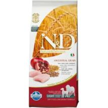 N&D Dog Low Grain csirke&gránátalma light medium/maxi 12kg