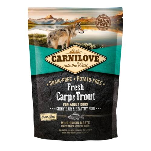 Carnilove Fresh Adult Dog ponty & pisztráng - Hair & Healthy Skin 1,5kg
