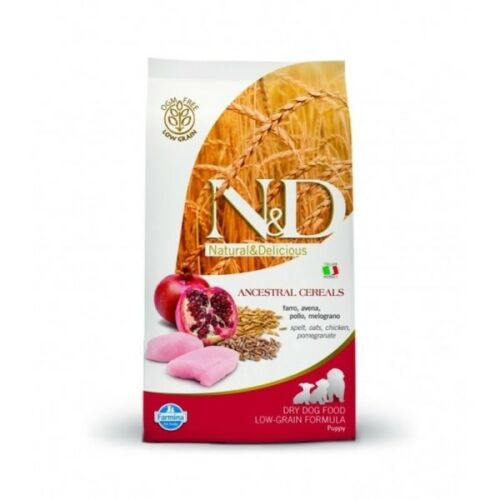 N&D Dog Low Grain csirke&gránátalma puppy medium 800g