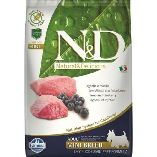 N&D Dog Grain Free bárány&áfonya adult mini 7kg