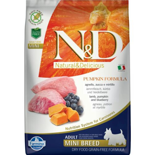 N&D Dog Grain Free bárány&áfonya sütőtökkel adult mini 7kg