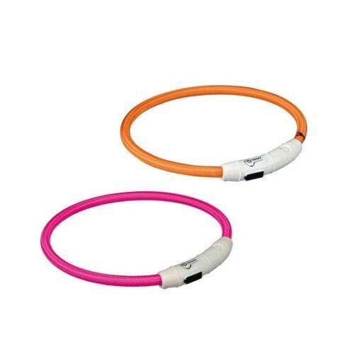 Nyakörv Világítós, Usb Töltővel L-Xl 65cm/7mm Pink