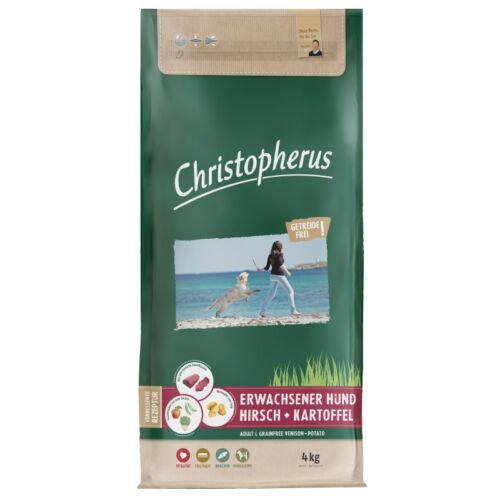 Christopherus Dog Adult Grainfree Szarvas és burgonya Large 4kg