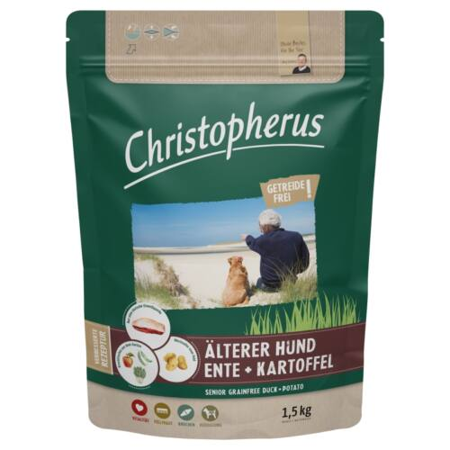 Christopherus Dog Senior Grainfree Kacsa és burgonya 1,5kg