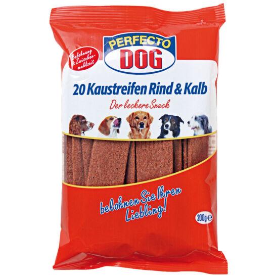Jutalomfalat Perfecto Dog Húslap Marhás 200g