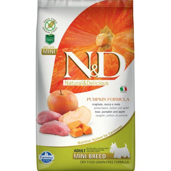 N&D Dog Grain Free vaddisznó&alma sütőtökkel adult mini 2,5kg