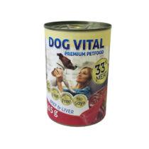 Dog Vital konzerv beef&liver 415gr