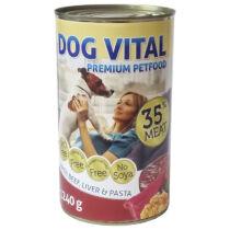 Dog Vital konzerv Beef, Liver&Patsa 1240gr