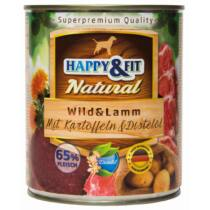 Happy&Fit Natural Wild&Lamm mit Kartoffeln&Distelöl 800g