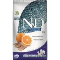 N&D Dog Ocean hering&narancs adult medium&maxi 2,5kg
