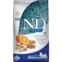N&D Dog Ocean tőkehal, tönköly, zab&narancs adult mini 2,5kg