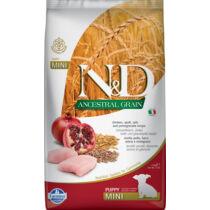 N&D Dog Ancestral Grain csirke,tönköly,zab&gránátalma puppy mini 2,5kg