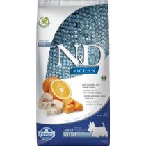 N&D Dog Ocean tőkehal,narancs és sütőtök adult mini 7kg