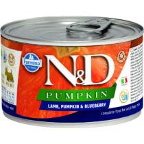 N&D Dog Pumpkin konzerv bárány&áfonya sütőtökkel Adult mini 140gr