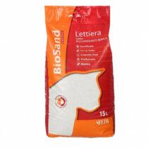 Macskaalom Biosand fehér, illatos, szuper csomósodó, bentonit 15l