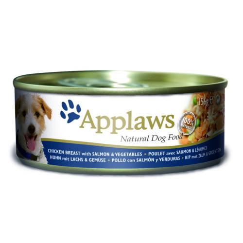 Applaws Dog Konzerv Csirke, lazac, zöldség és pisztráng 156g
