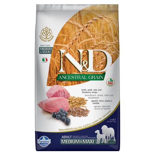 N&D Ancestral Grain Dog bárány&áfonya adult medium&maxi 2,5kg