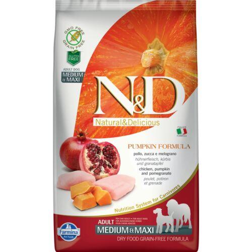 N&D Dog Grain Free csirke&gránátalma sütőtökkel adult medium&maxi 2,5kg