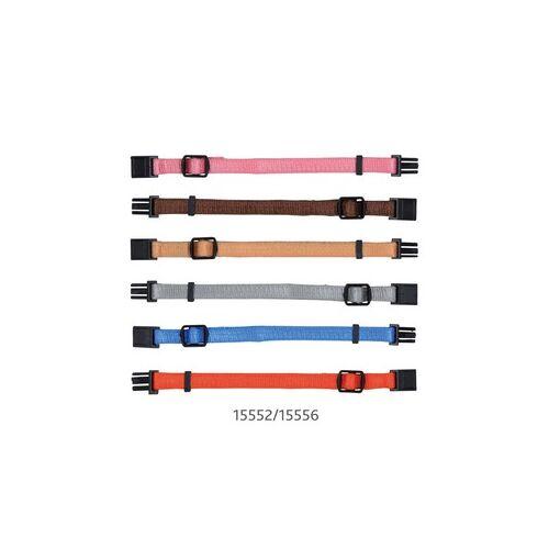 Nyakörv Kölyöknek M-L 22-35cm/10mm 6db Barna,Bézs,Szürke,Pink,Narancs,Kék